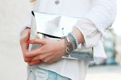 STYLE-IDEALS SILVER CLUTCH 06
