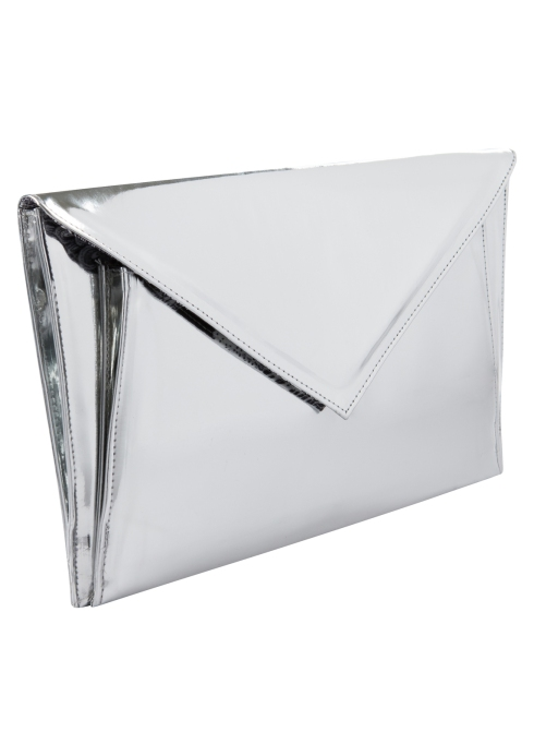 STYLE-IDEALS SILVER CLUTCH 16