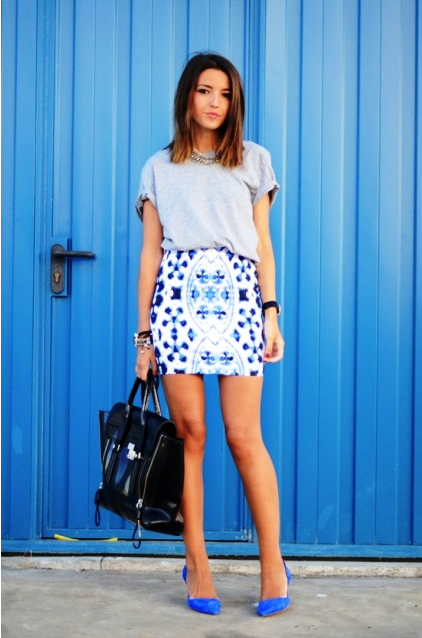 STYLE IDEALS PRINTED SKIRTS 01