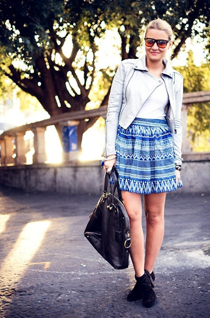STYLE IDEALS PRINTED SKIRTS 12