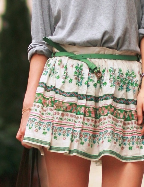 STYLE IDEALS PRINTED SKIRTS 16